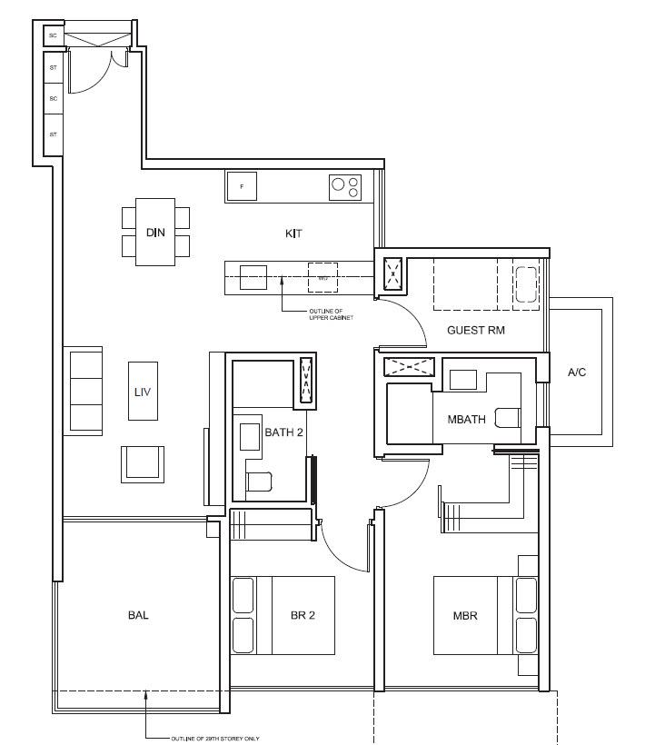 2 Bedroom + Guest